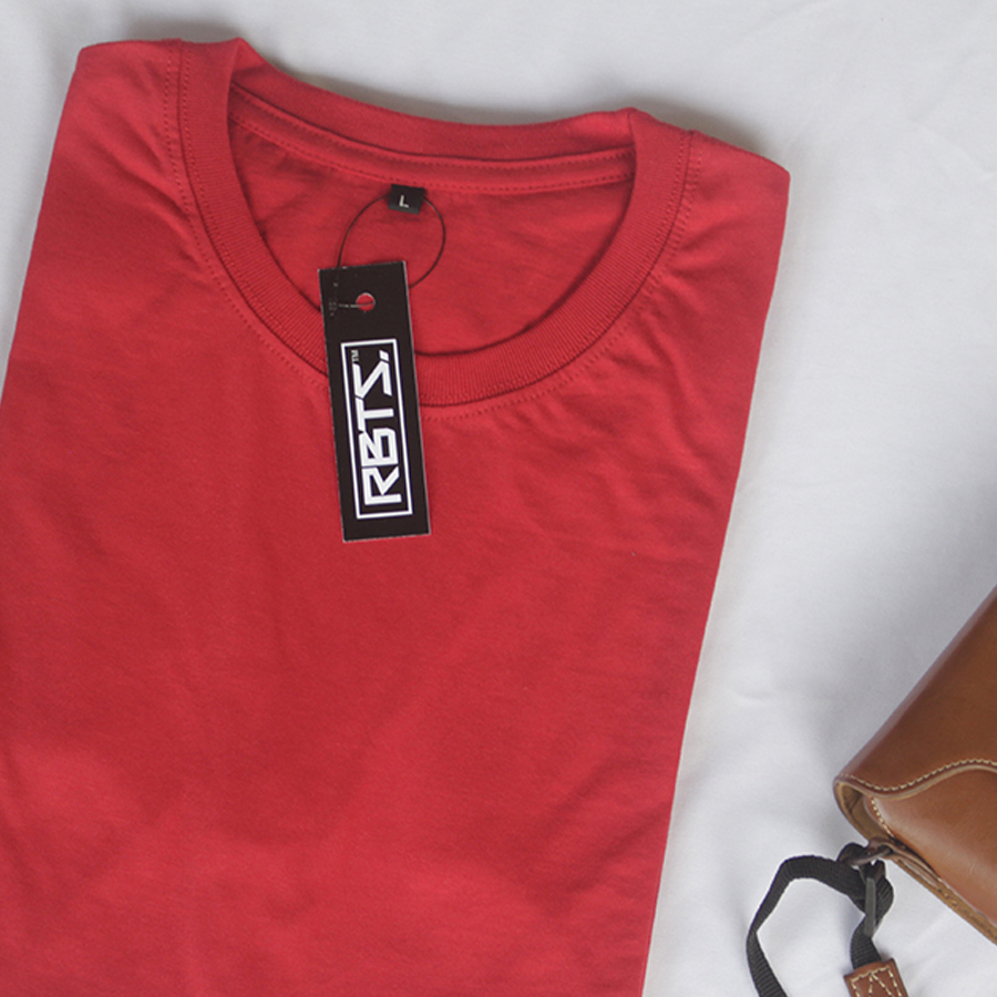 Kaos Polos Premium Merah Casofa Clothing Red Misty
